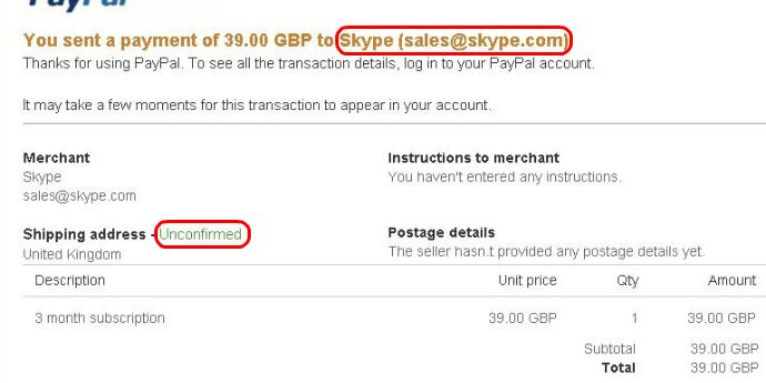 Virus appears as Paypal scam - SkyComm IT Solutions